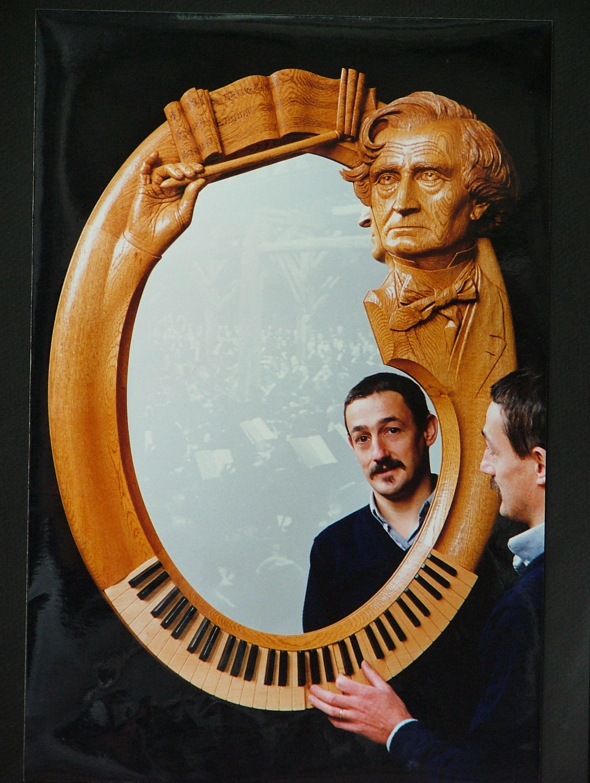 Scuplture sur bois - Miroir Berlioz  n°5